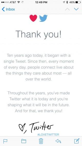 Twitter 10th anniversary