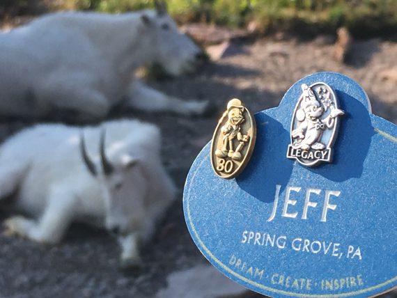 Walt Disney Legacy Award blue name tag