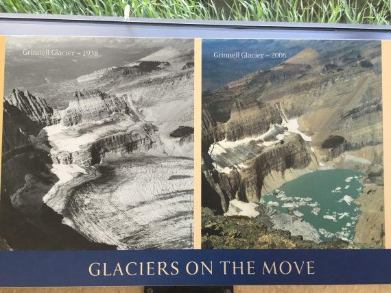Grinnell Glacier shrinking