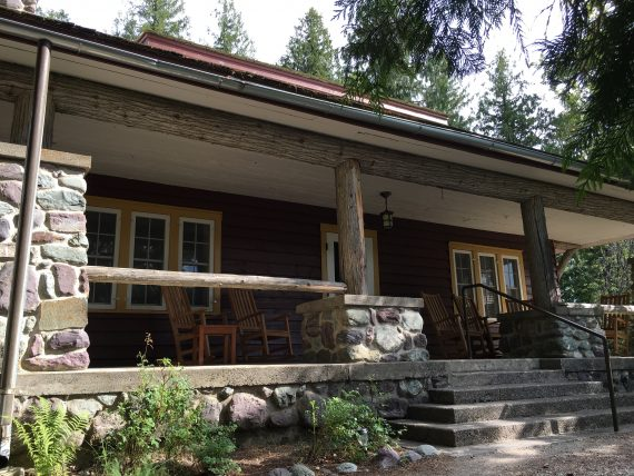 Lake McDonald Cobb House porch