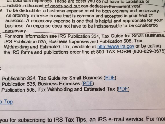 IRS tax deduction explanation