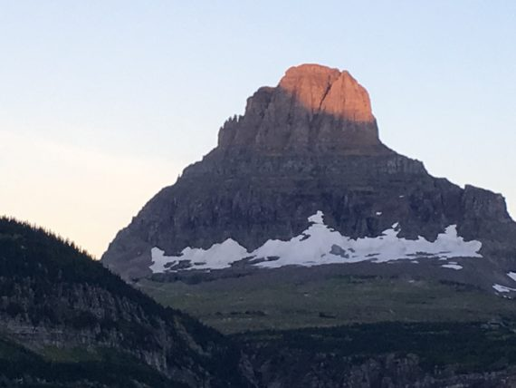 Mt Clements at first light.