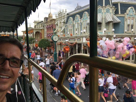 Magic Kingdom views from double decker bus