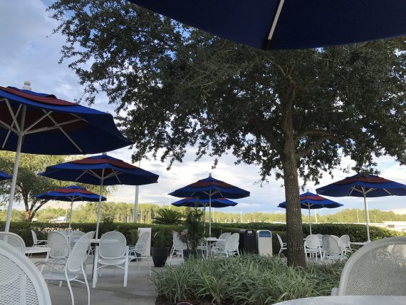 Disney University outdoor seating