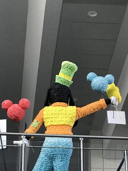Lifesize Goofy made out of Peeps