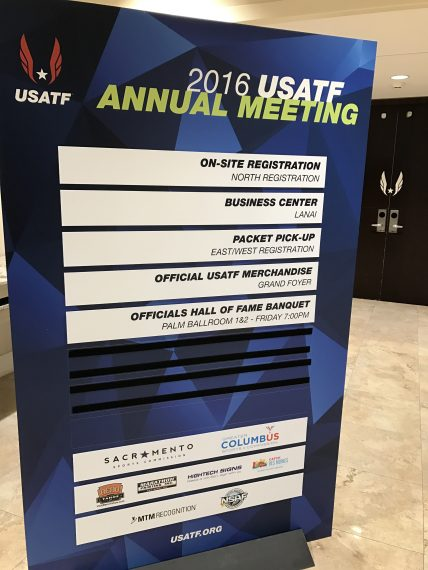 USATF 2016 Disney meeting agenda