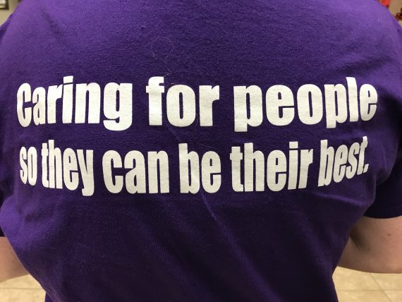 Caring for people slogan