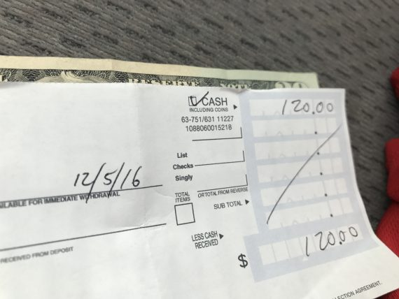 Wells Fargo deposit slip