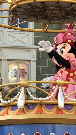 Minnie Mouse on parade float