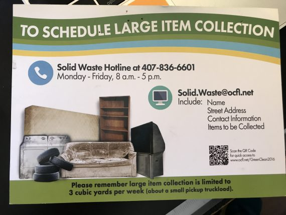 Orange County Large Item waste