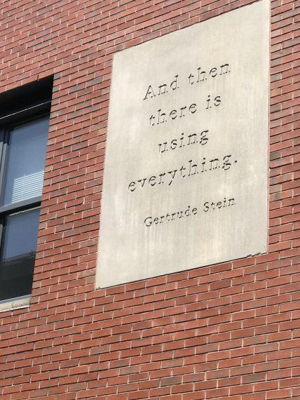 Brown University sign