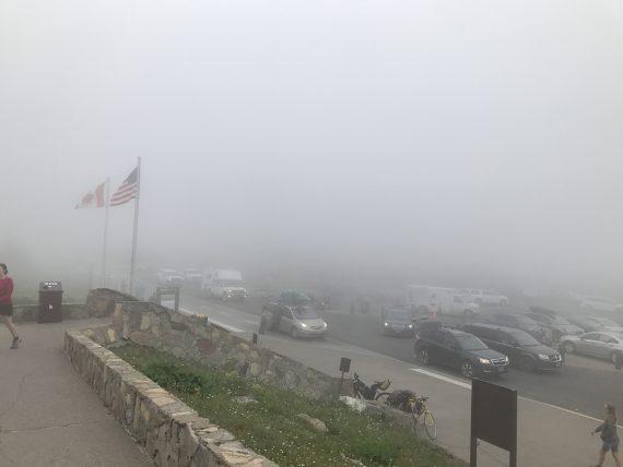 Logan Pass fogged in
