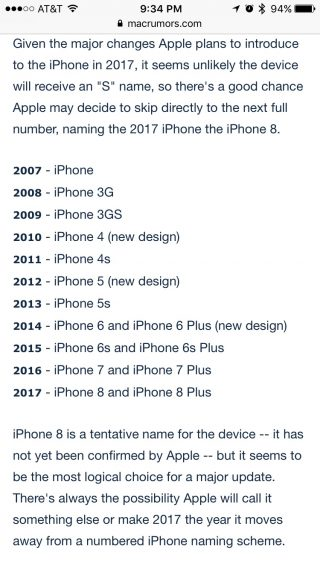 iPhone release timeline