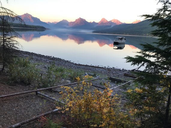 Lake McDonald Boat House in September