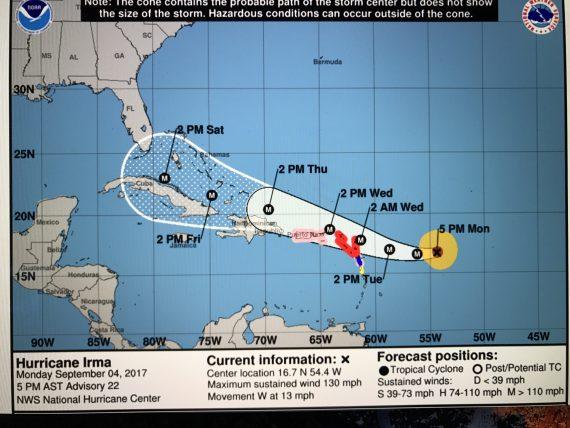 Hurricane Irma path
