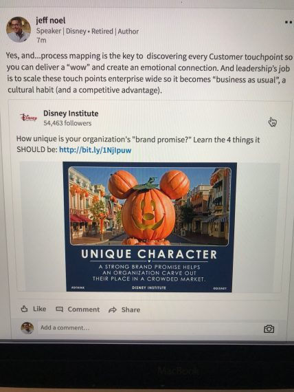 Disney Institute LinkedIn update