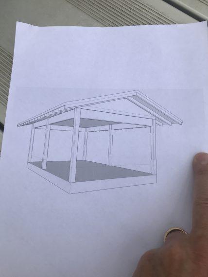 Outdoor pavilion sketch