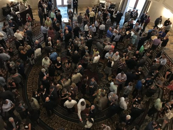 Conference attendee reception
