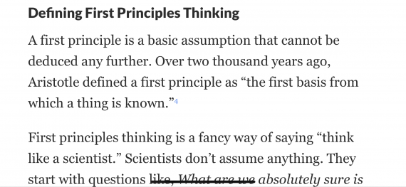 First Principles Thinking