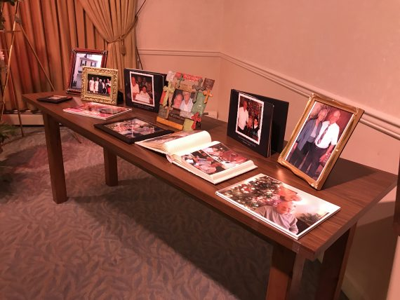 funeral display of photos