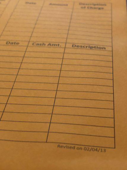 Corporate expense report envelope