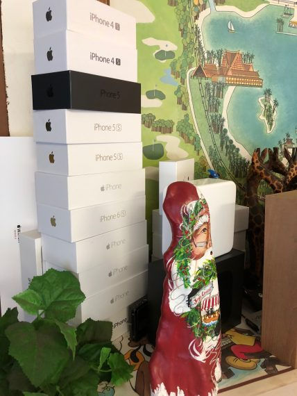 pile of iPhone boxes