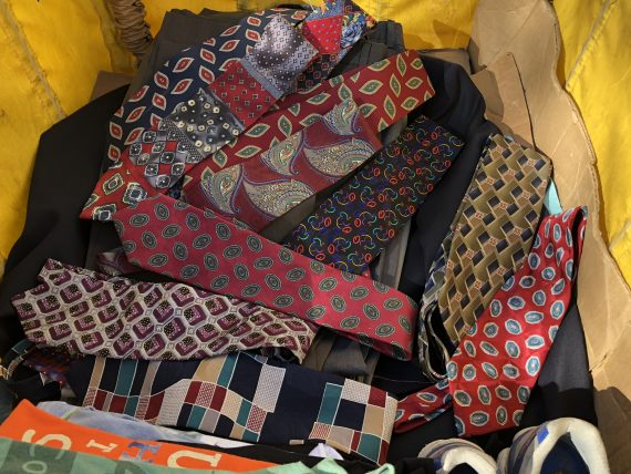 Nice men's ties donated