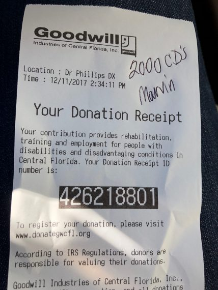 Goodwill receipt