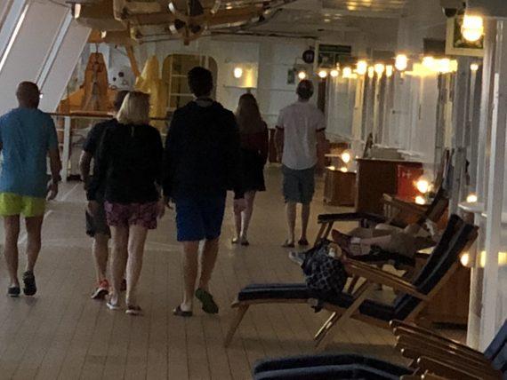 Walking on Disney Cruise ship