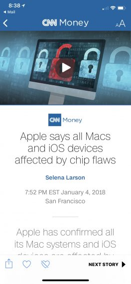 2018 Apple operating system breach