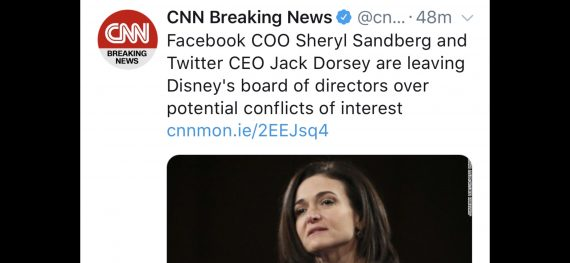 Disney Board announcement