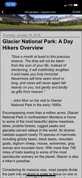 Glacier National Park inspiration