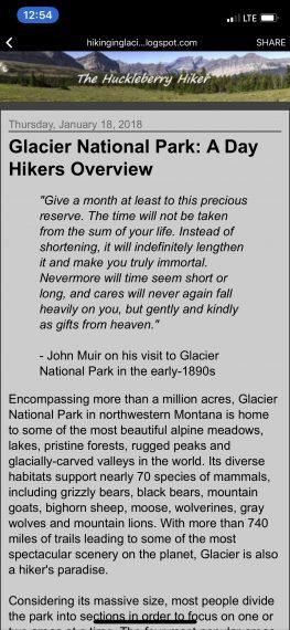 Glacier National Park inspiration