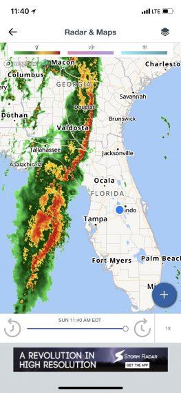 florida storm map