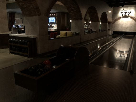 Hotel bowling alley