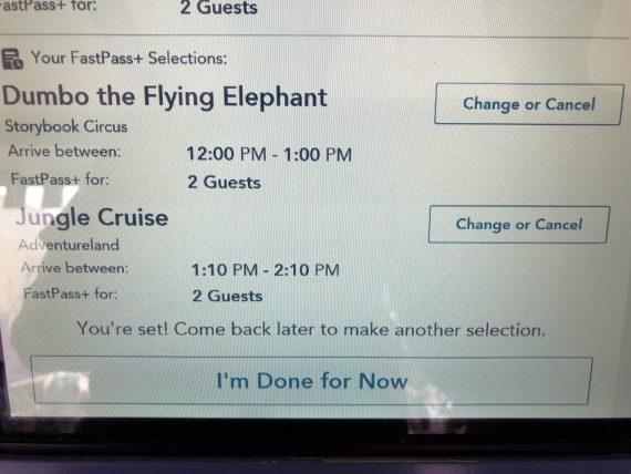 Disney FastPass app