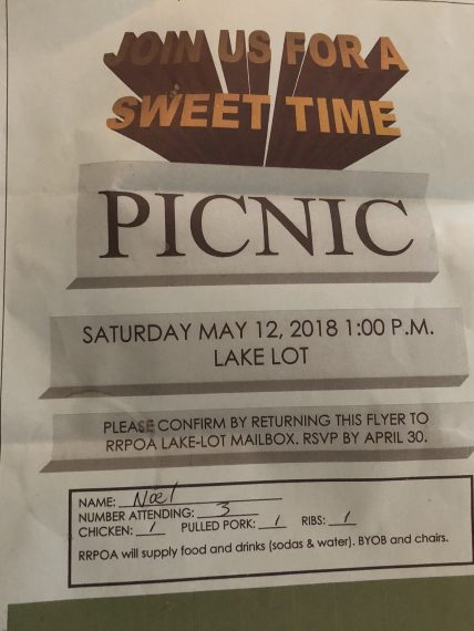 homeowner picnic form