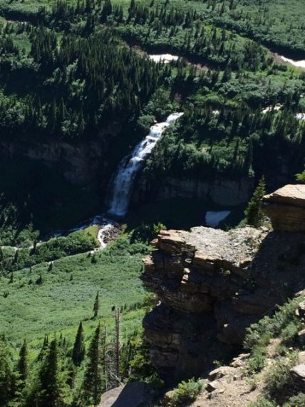waterfalls near Logan Pass