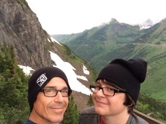 Father and son in Glacier