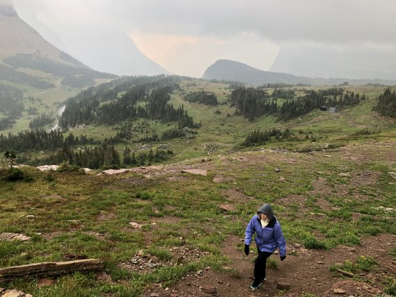 Logan Pass on cloudy day