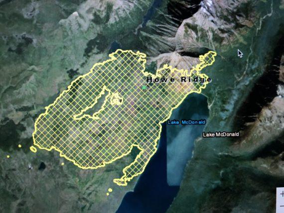 Glacier Howe Ridge fire