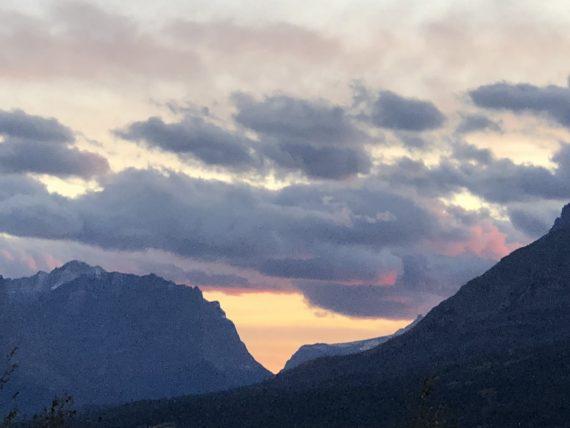 Glacier Park sunset