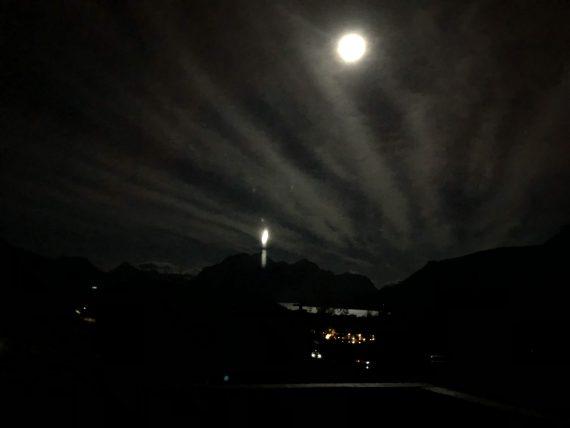 Glacier Park moon