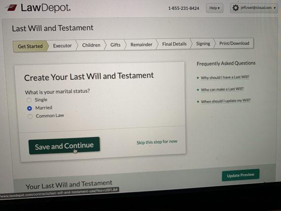 Last will Law Depot