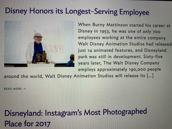 Most senior Disney Cast Member