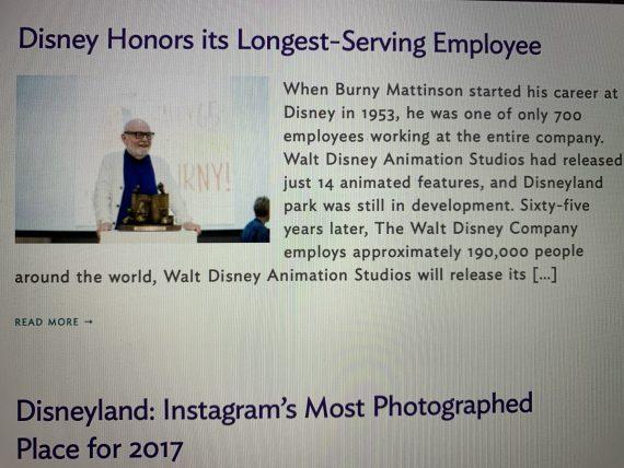 Most senior Disney Cast Member