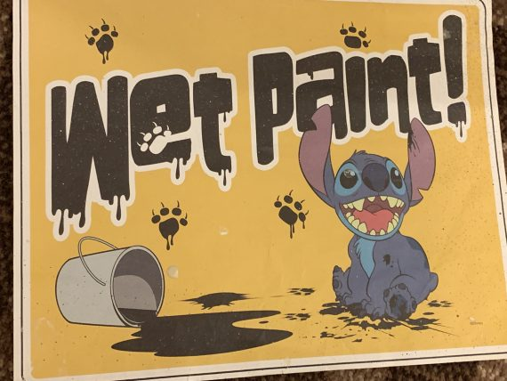 Disney wet paint sign