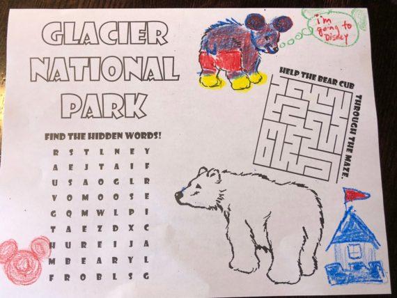 Glacier National Park coloring page