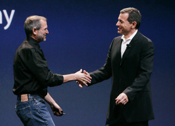 Steve Jobs and Bob Iger