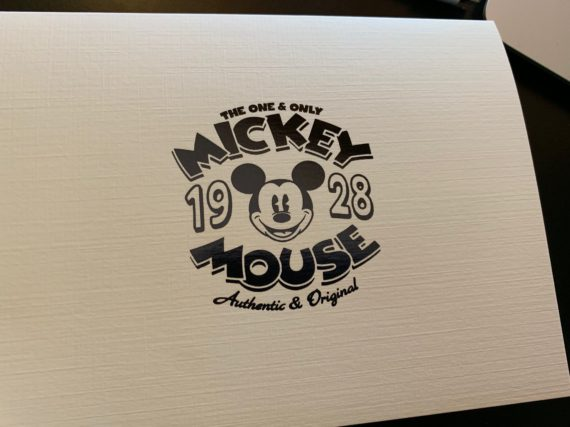 disney Mickey Mouse note card